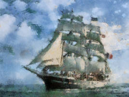 French Sailing Ship 2 by diverse-norm
