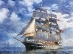 French Sailing Ship 1 LARGE