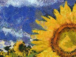 Van Gogh Sun Flower by diverse-norm