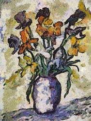 Van Gogh Flower Jar by diverse-norm
