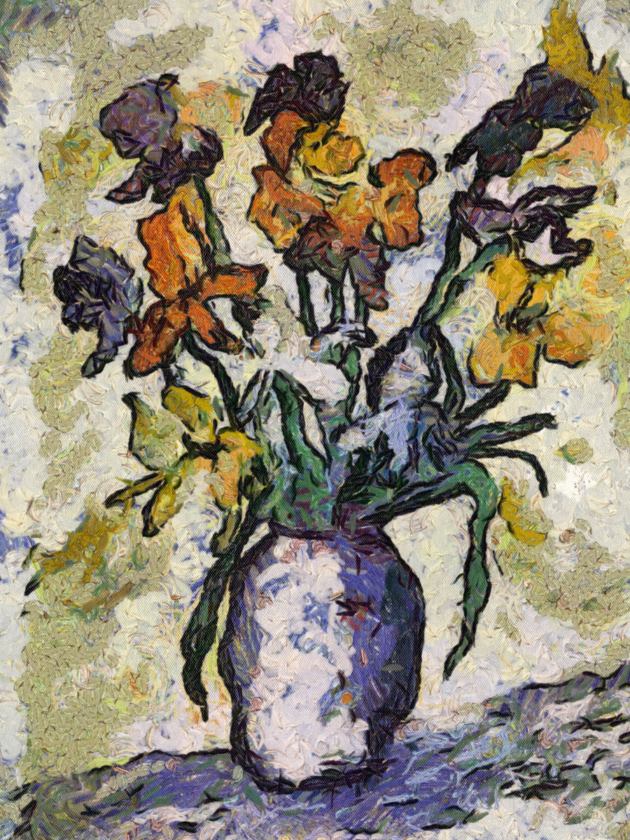 Van Gogh Flower Jar by diverse-norm