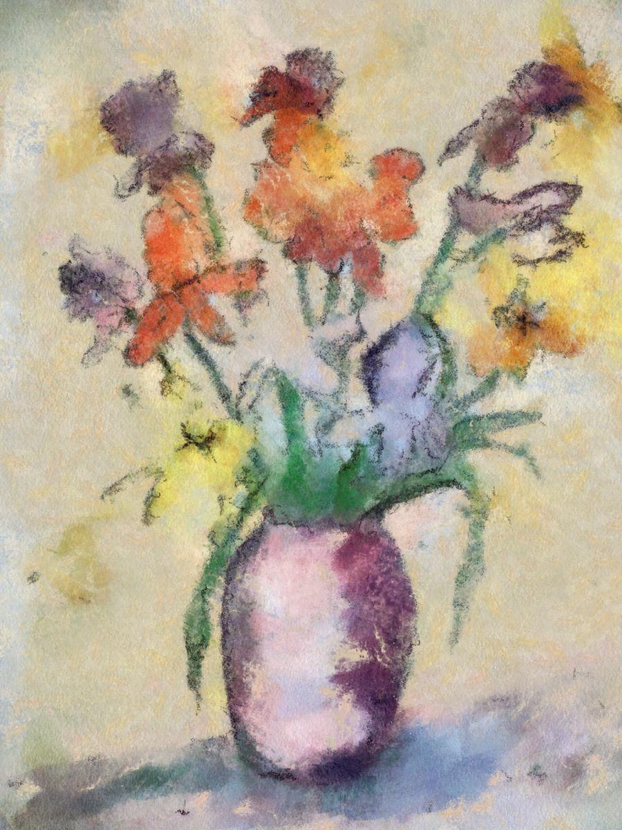 Cezanne Flower Jar by diverse-norm
