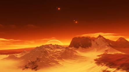Exomoon of binary red dwarfs #5