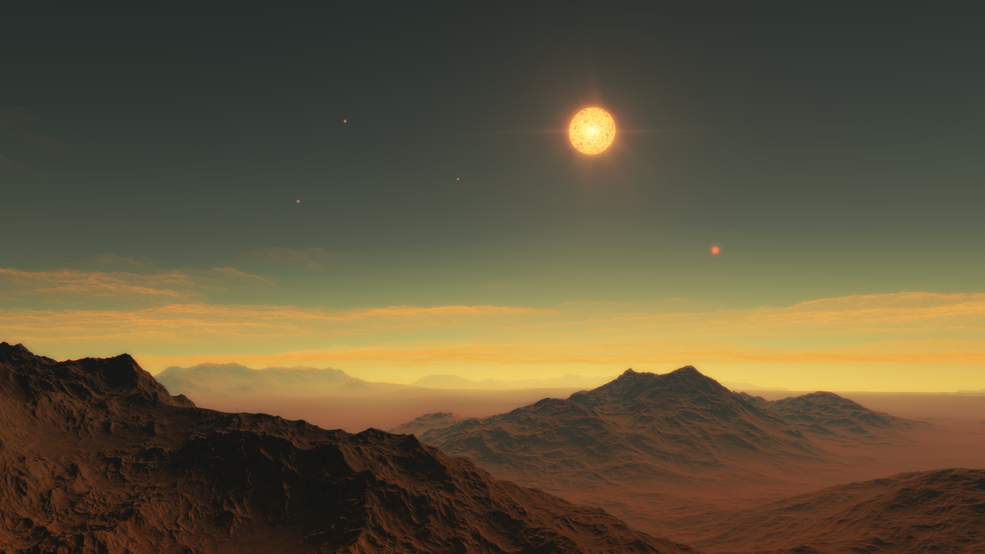 M4V stellar class red dwarf+binary brown dwarfs #1