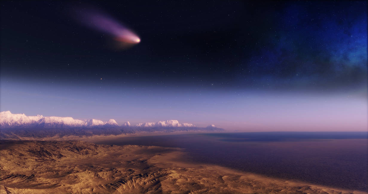 Extrasolar Comet - 4k High res remake by nirklars