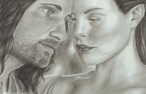 Aragorn and Arwen by VixSky