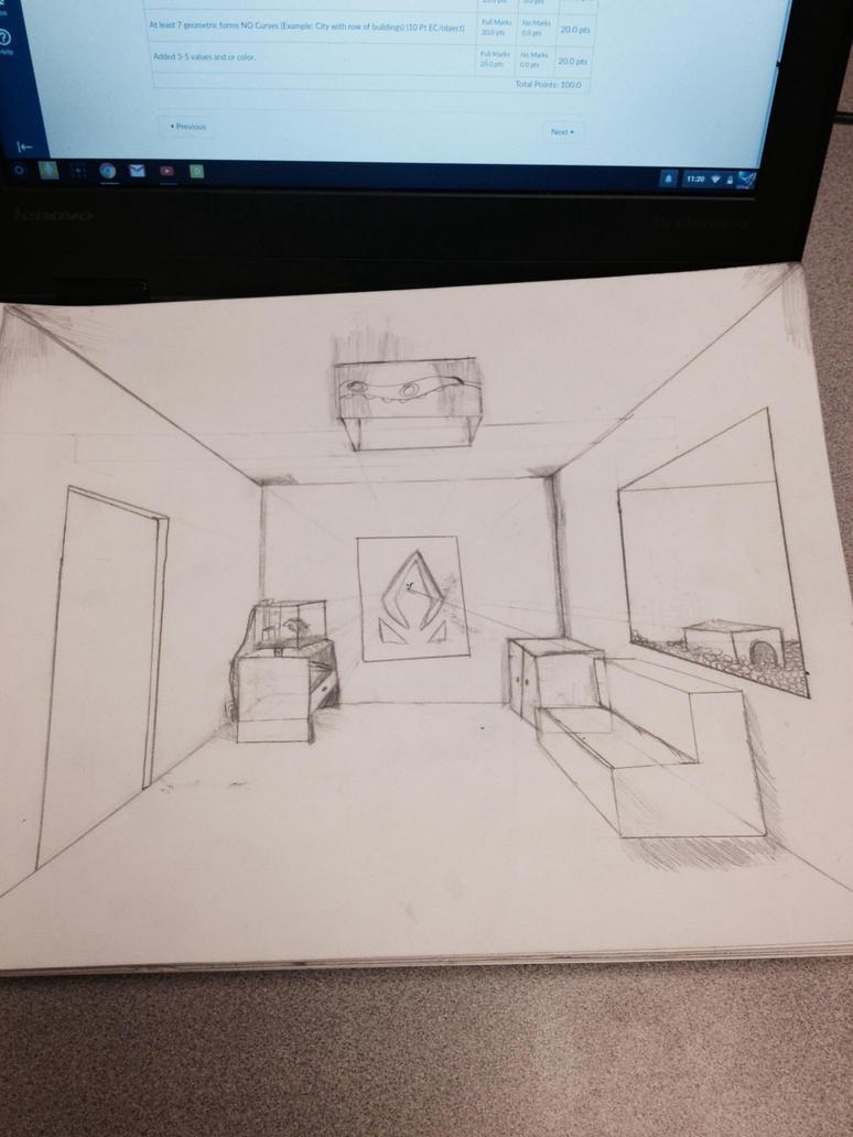 Random: 1-point Interior perspective by Fridaythekid