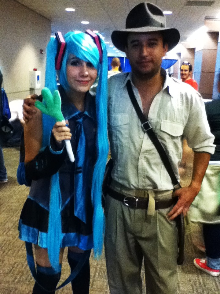 Miku Hatsune and Indiana Jones by MissDespair117