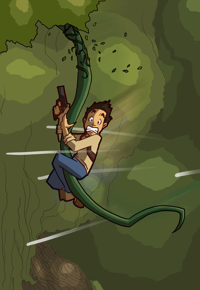Zachula captures that all important Uncharted trait in this image, the comedy