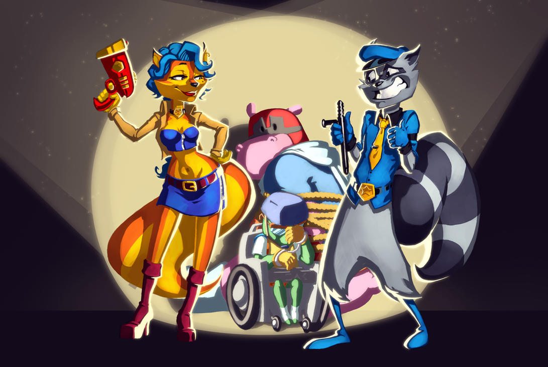 Sly Cooper S Gang In Accidental Arrest By Zededge On