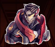 Korra + Mass Effect (FSRX 2 bonus) by ZedEdge