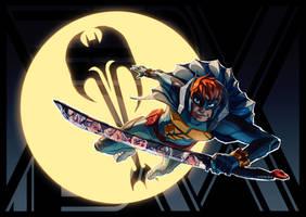 Scott Pilgrim + Batman (FSRX 28) by ZedEdge