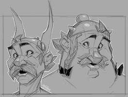 Asterix and Obelix sketchix