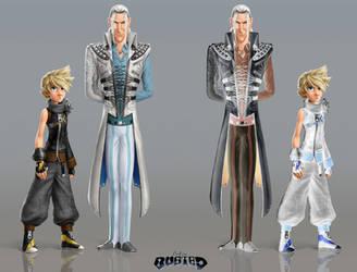 Final Fandisney - Sephiroth variant 2 comparison by ZedEdge