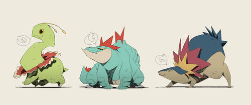 Little Johto Monsters by ZedEdge
