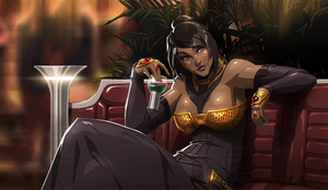 Zafearah's night out (commission)