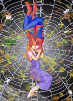 spiderman kiss by Chalo3d