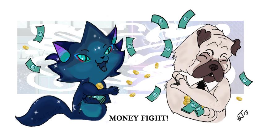Money Fight! by Rabid-Turtle