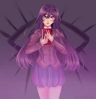 Yuri [DDLC Fanart] by AxolotlAnne