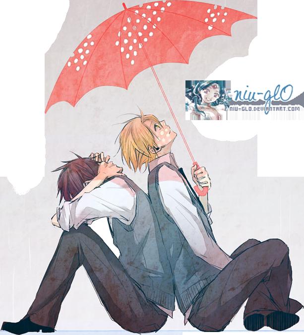 Renders Mangas Divers  Yuuri_and_wolfram___kyo_kara_maou___render__by_niu_gl0-d757ltt