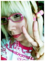 pinku glasses by pancakedoll