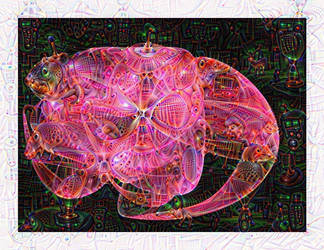 Pink Lizard by zrosemarie