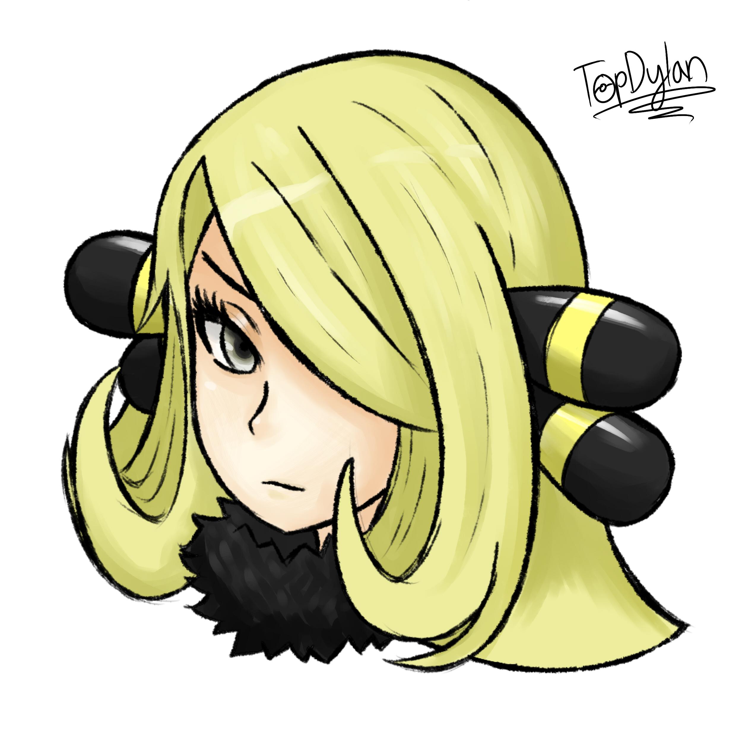 Pokemon - Cynthia Portrait by TopDylan on DeviantArt