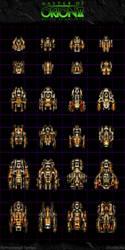 Master Of Orion II: Orange Ships by Mortecha