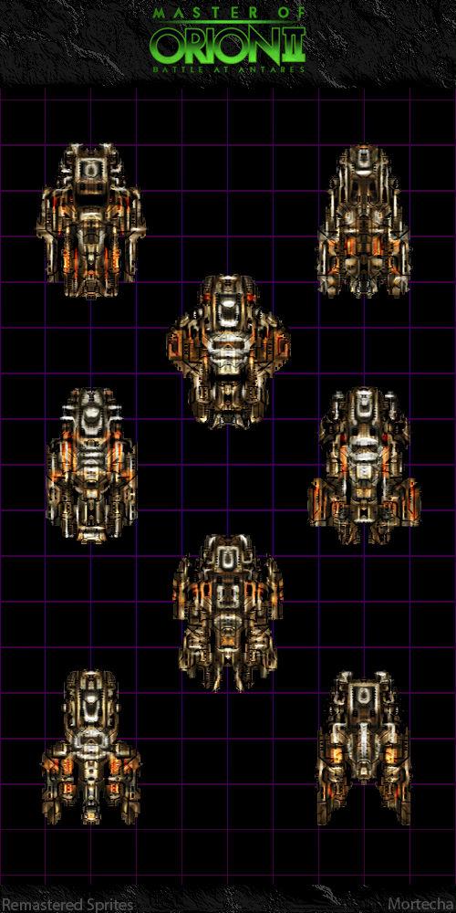 Master Of Orion II: Orange Battleships