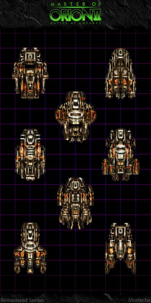 Master Of Orion II: Orange Battleships by Mortecha