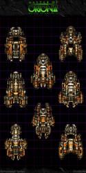 Master Of Orion II: Orange Titans by Mortecha