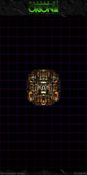 Master Of Orion II: Orange Doomstar by Mortecha