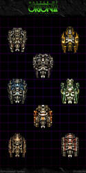 Master Of Orion II: Freighter Variants by Mortecha
