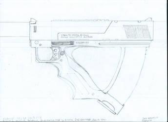 Deus Ex - Stealth Pistol Redesign Schematic V1 by Mortecha