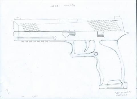 Deus Ex - 10mm Pistol Redesign Schematic
