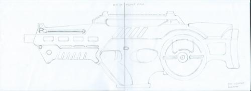 Deus Ex - Assault Rifle Redesign Schematic by Mortecha