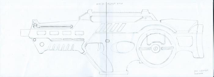 Deus Ex - Assault Rifle Redesign Schematic
