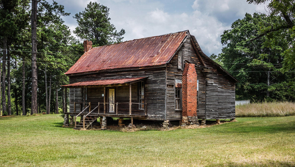 Old house on rock foundation by jbordons on deviantart for Classic house images