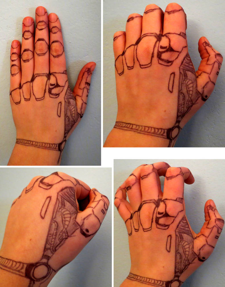 d0a14d533f56d Robot hand tattoo (kind of) with pen by Ippo707 on DeviantArt