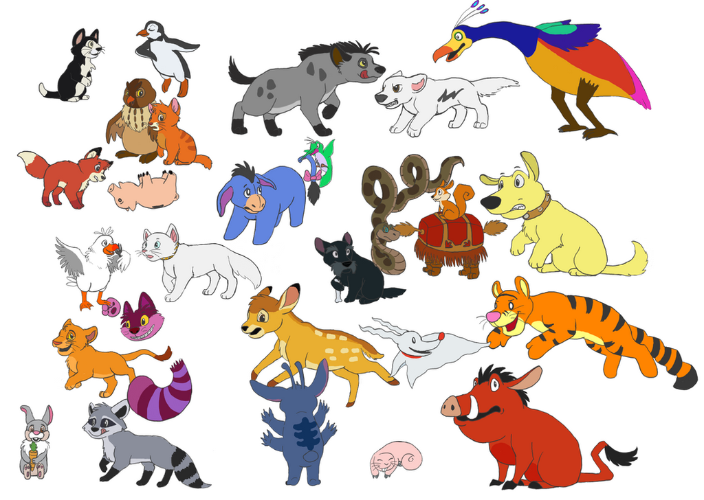 Disney Animal Cartoon Characters