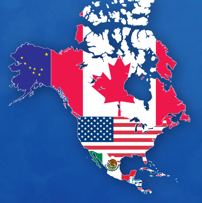 Map of North American Flags by ajmedwards on DeviantArt