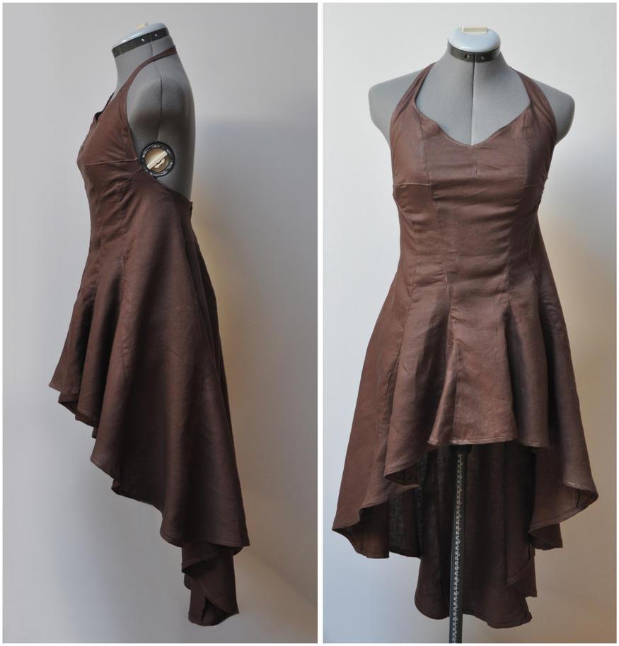 Robe assymetrique en lin by Le-Papillon-57