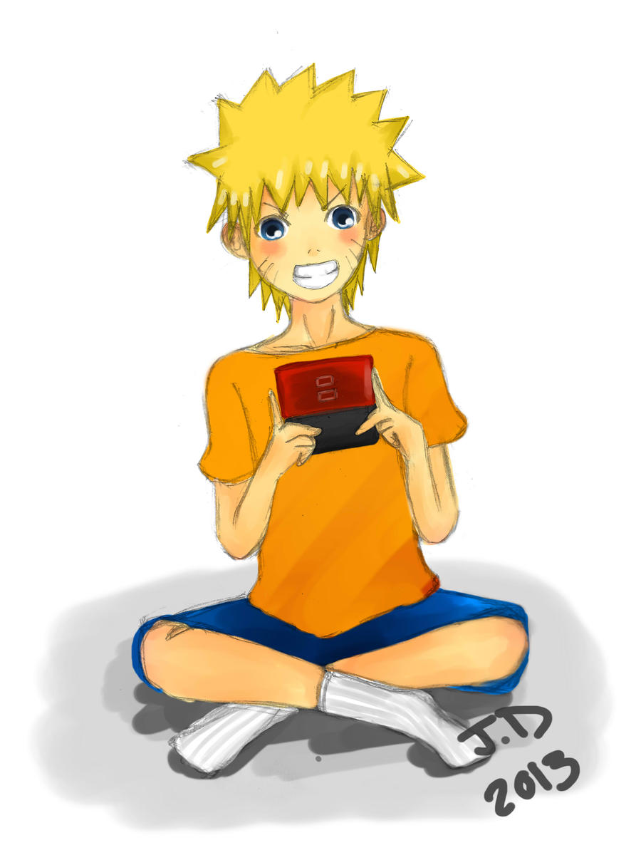 Naruto Playing DS- Lazy MasterAki... by MasterAki