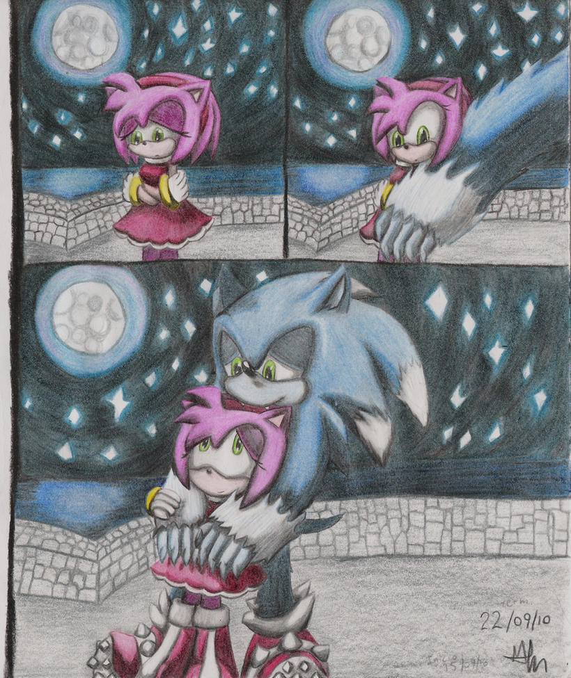 werehog sonic and amy by Paumol on DeviantArt