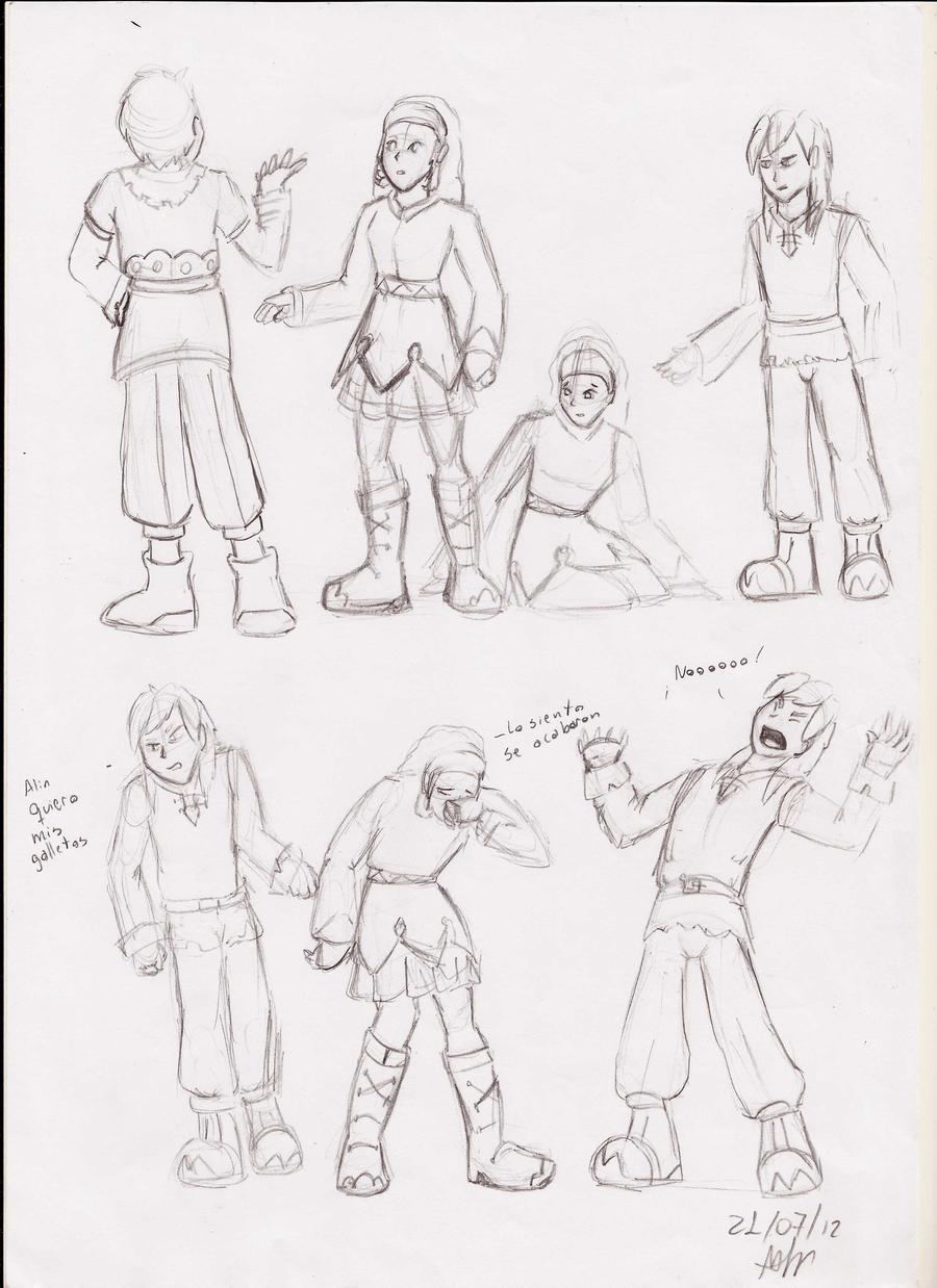 estupidos bocetos by pauladrag17