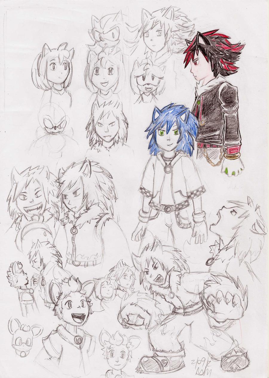 personajes de sonic en forma humana by pauladrag17