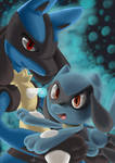 Lucario and Riolu