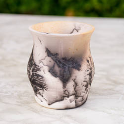 Raku Horse Hair Vase by SunStateGalleries