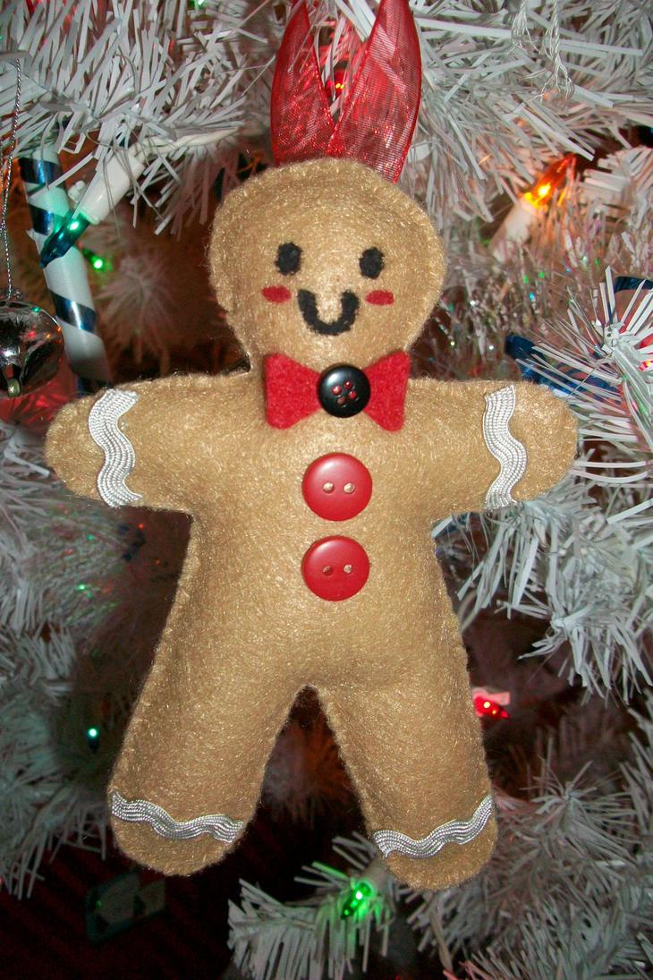 Gingerbread man ornaments - Gingerbread Man Ornament By Klberb