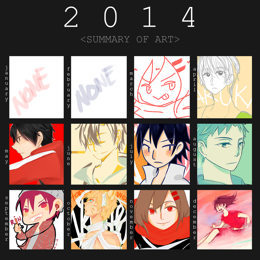 Hima's Summary Art 2014 by TAIIIYOU